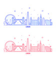 london skyline england uk city buildings vector image