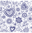Love hearts seamless pattern 6 vector image vector image