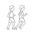 men avatar running or jogging icon image vector image vector image