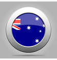 metal button with flag of Australia vector image vector image
