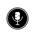microphone round glyph icon multimedia icon vector image vector image