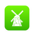 mill icon digital green vector image vector image