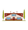 modern country home for booking and living house vector image vector image