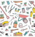 modern seamless pattern with gardening tools vector image vector image