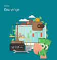 online exchange flat style design vector image