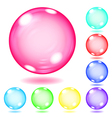 Opaque multicolored glass spheres vector image