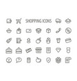 outline shopping icons set vector image