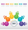 part of the report with icons set infographic vector image vector image
