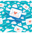 pattern envelopes love vector image