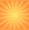 retro rays orange background vector image vector image