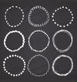 round frames grunge textured hand drawn elements vector image vector image