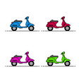 scooters flaticon colorful vector image