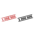 scratched textured and clean 1 000 000 stamp vector image vector image