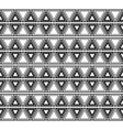 seamless black and white ethnic pattern with vector image
