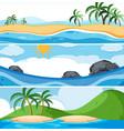 set of ocean scenes vector image vector image