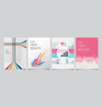 set template geometric covers design gradient vector image vector image