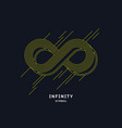 shows infinity sign modern vector image
