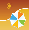 summer with umbrella color vector image vector image