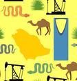 Symbols of Saudi Arabia seamless pattern Desert vector image vector image