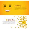 world smile day horizontal flyers set vector image vector image