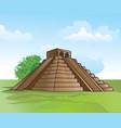 mayan pyramid vector image