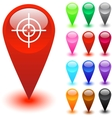 Target Sight button vector image