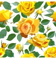Seamless Floral Background With Yellow Roses vector image