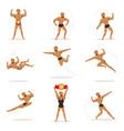 freestyle wrestling fighter in black underwear vector image