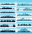 City skylines panoramic vector image