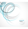 Abstract transparent wave template background vector image
