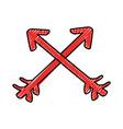 arrows decorative frame icon vector image