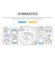 banner gymnastics vector image