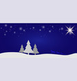 beautiful christmas winter flat landscape vector image vector image