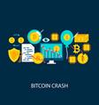 bitcoin crash concept vector image vector image