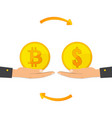 bitcoin exchange exchange of digital currency vector image vector image