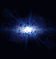 blue big explosion vector image vector image