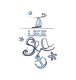Blue Lettering I Like Sea vector image vector image