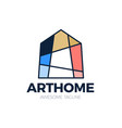 bright colorful art house logo creative logotype vector image vector image