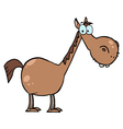cartoon character horse vector image vector image