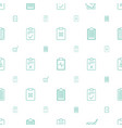 checklist icons pattern seamless white background vector image vector image