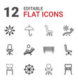 comfort icons vector image vector image