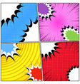 comic book backgrounds set vector image vector image