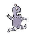 comic cartoon terrified robot vector image vector image