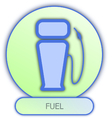 Commercial icons and symbols of car parts - Fuel vector image vector image