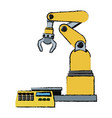 computer controlled automated manufacturing vector image vector image