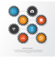computer icons set collection of file scanner vector image