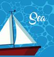 cute sea cartoons vector image