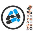 drugs icon with love bonus vector image
