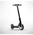 electric scooter symbol vector image vector image