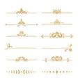 elegant damask dividers vintage boutique flower vector image
